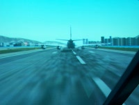 A340 landed ahead of us