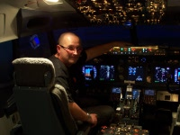 Me in the Sim Cockpit