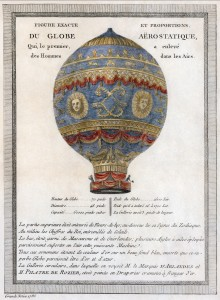 Montgolfier Balloon of 1783 (Public domain image via Wikipedia)