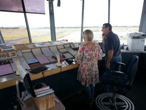 Controllers at Essendon Tower (YMEN) performing a hand-over at shift-change