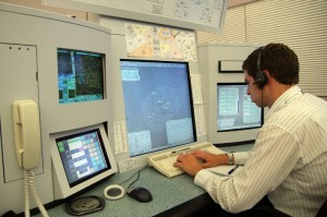Controller operating a typical Eurocat ATC workstation (image from AirServices Australia)