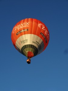 "While at Leeton I was flying VH-ZOV, the Zolvix balloon, aka ""Sheep Dip"""
