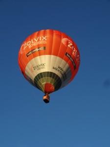 "While at Leeton I was flying VH-ZOV, the Zolvix balloon, aka ""Sheep Dip"""