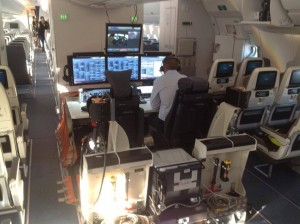 Comprehensive engineering station in the mid-cabin