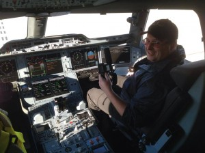 I got to check out the cockpit - very cool!