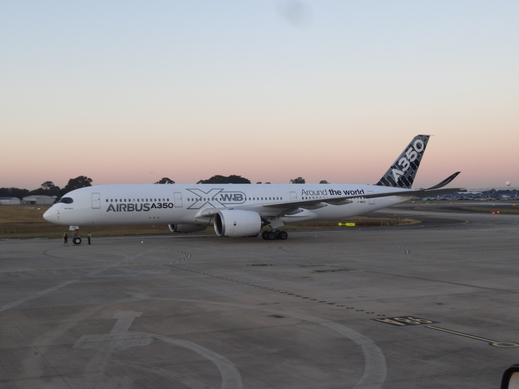 A350 XWB MSN5 arrives in Sydney